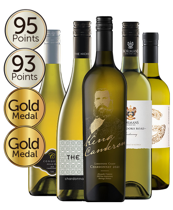 $80 Gold Medal & 93 Point Rated Chardonnay Mixed Dozen