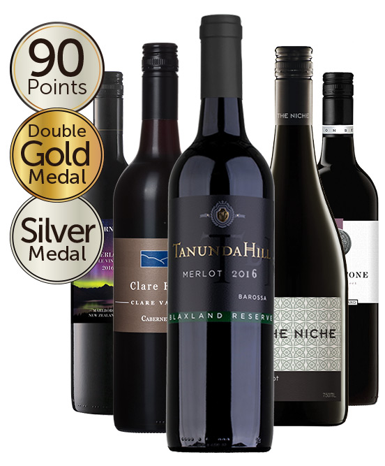 $99 Double Gold Medal Winning 93 Point Merlot Mixed Dozen