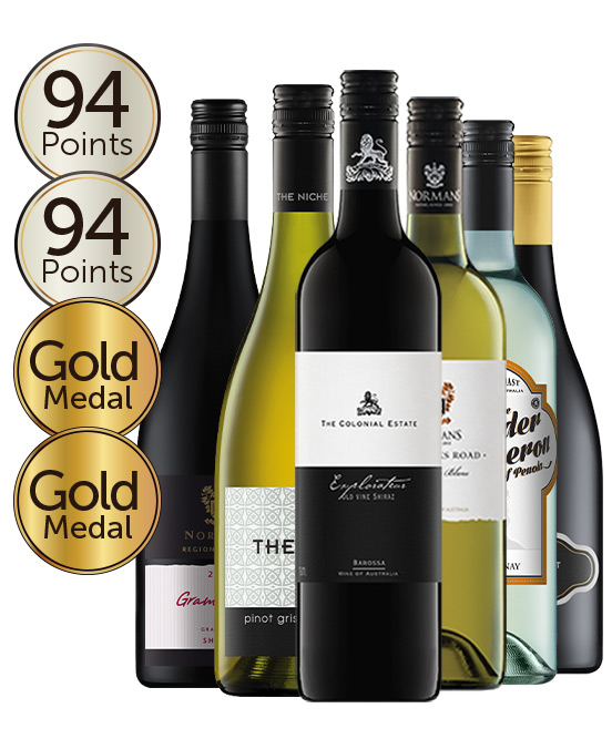 $99 Gold Medal Winning 94 Point Rated Red & White Mixed Dozen