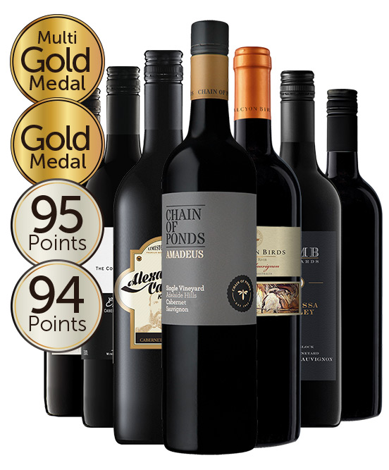 Multi Gold Medal Winning 95 Point Rated Cab Sauv Mixed Dozen
