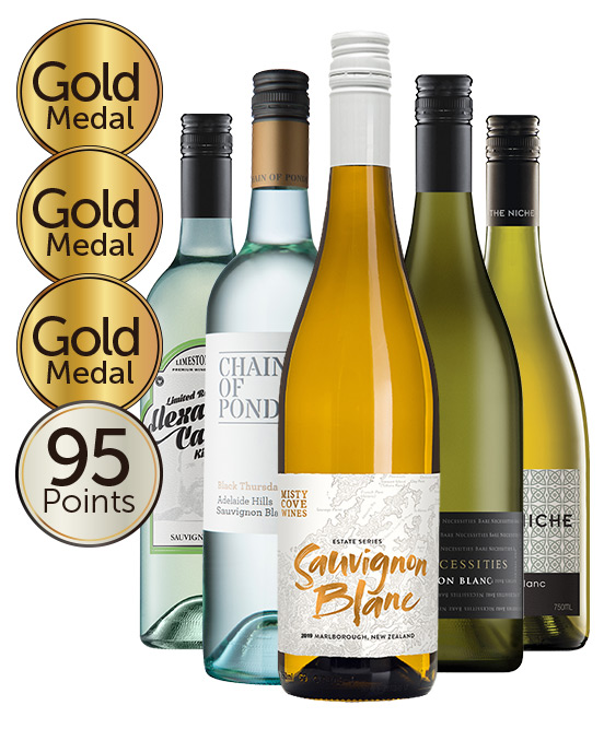 Multi Gold Medal Winning 93 Point Rated Sauvignon Blanc Mixed Dozen