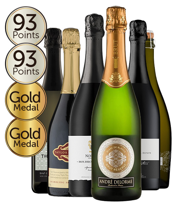 $120 Multi Gold Medal Winning 93 Point Rated Sparkling Red & White Mixed Dozen