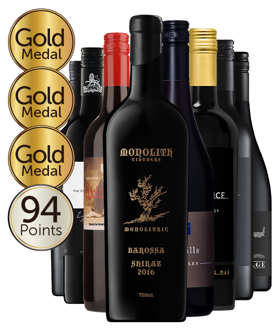 Multi Gold Medal Winning 94 Point Rated Shiraz Mixed Dozen