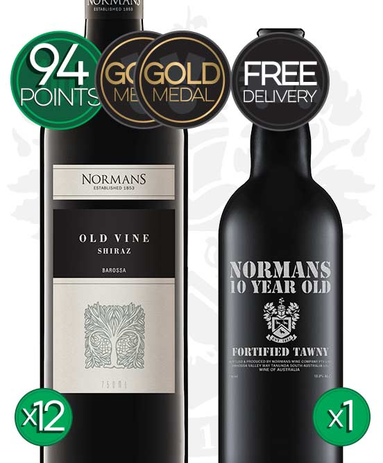 Normans Old Vine Barossa Valley Shiraz 2017 Fortified Bundle