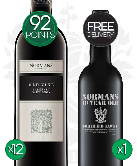 Normans Old Vine Barossa Valley Cabernet Sauvignon 2017 Fortified Bundle