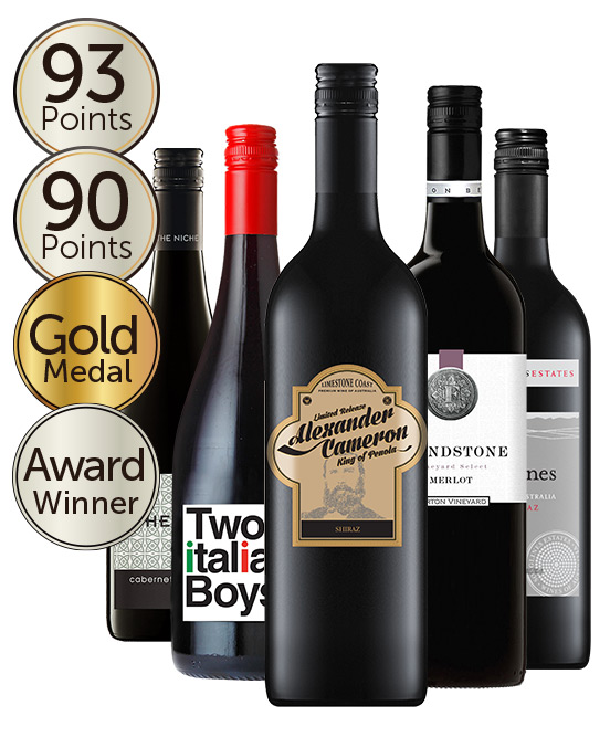 Multi Award Winning 92 Point Rated Red Mixed Dozen
