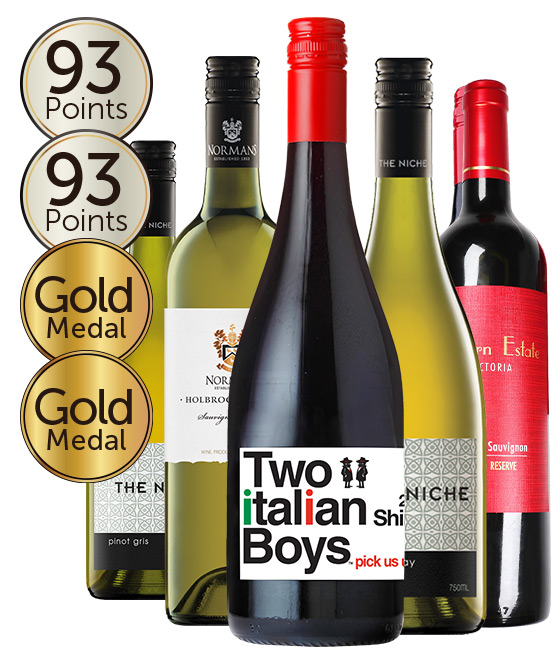 Gold Medal Winning 93 Point Rated Red & White Mixed Dozen