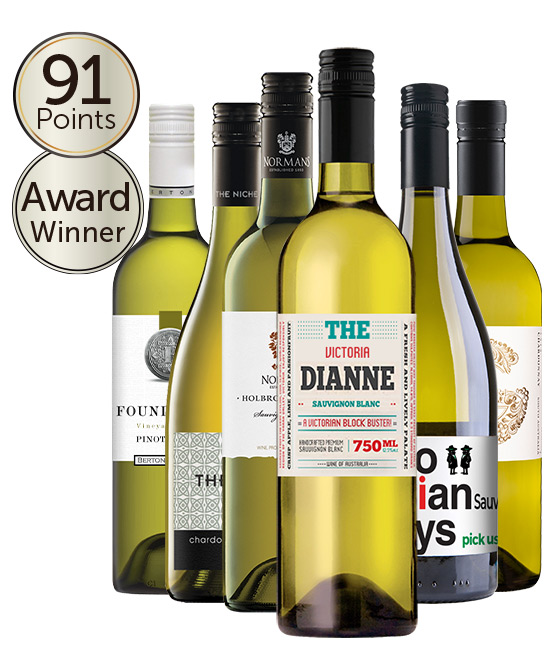 Gold Medal Winning 94 Point Rated White Mixed Dozen