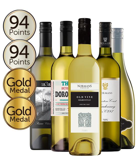 $99 Multi Award Winning 93 Point Rated Chardonnay Mixed Dozen
