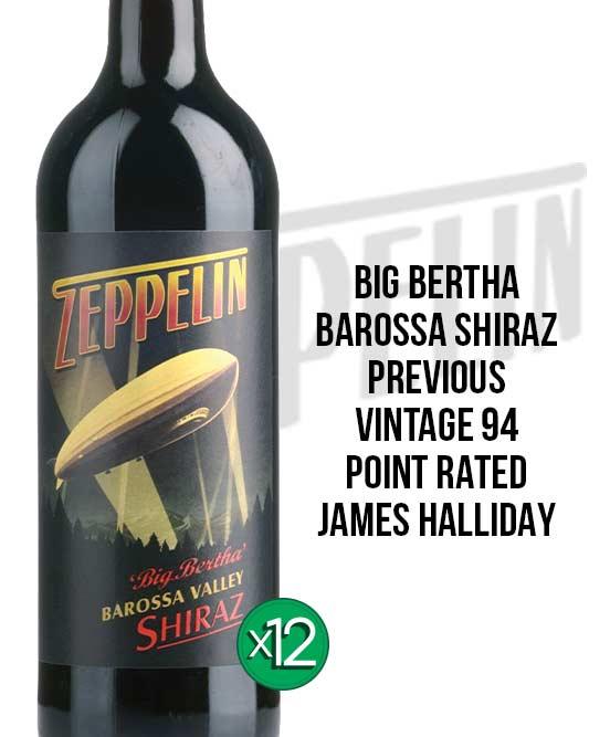 Zeppelin Big Bertha Barossa Valley Shiraz 2016 Dozen