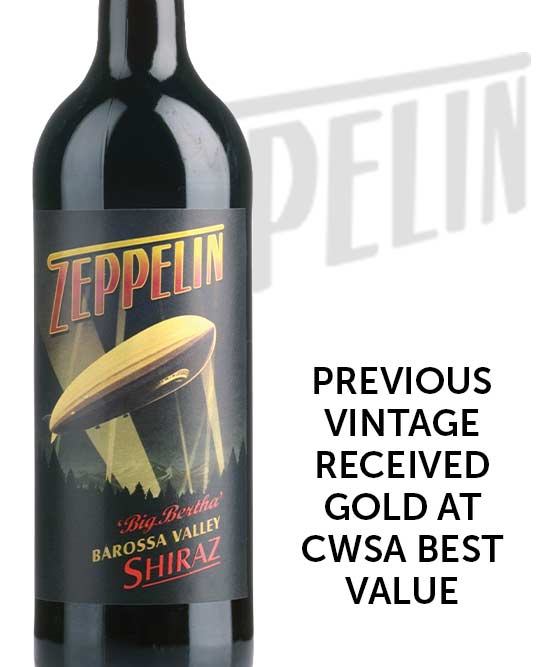 Zeppelin Big Bertha Barossa Valley Shiraz 2016