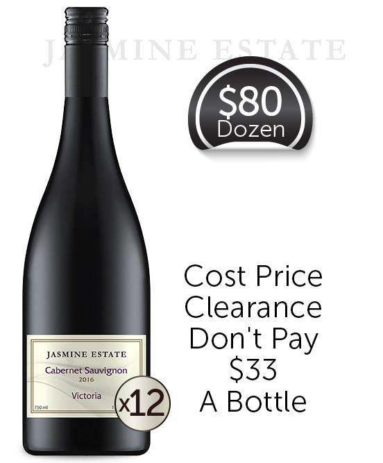 Jasmine Estate Victorian Cabernet Sauvignon 2016 Dozen