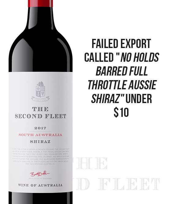 The Second Fleet South Australian Shiraz 2017