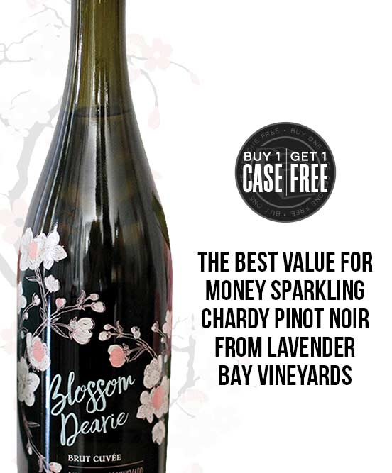 Blossom Dearie Sparkling Chardonnay Pinot Noir By Lavender Bay Vineyards