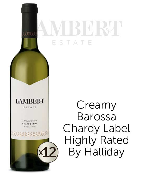 Lambert Estate A Thousand Words Barossa Valley Chardonnay 2015 Dozen