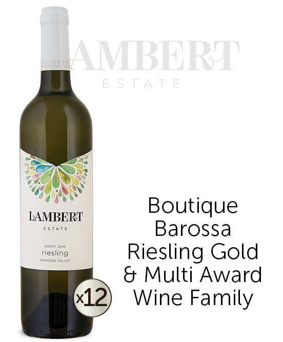 Lambert Estate Sweet Jane Barossa Valley Riesling 2016 Dozen