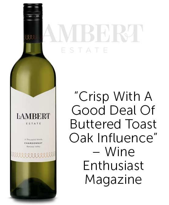 Lambert Estate A Thousand Words Barossa Valley Chardonnay 2018