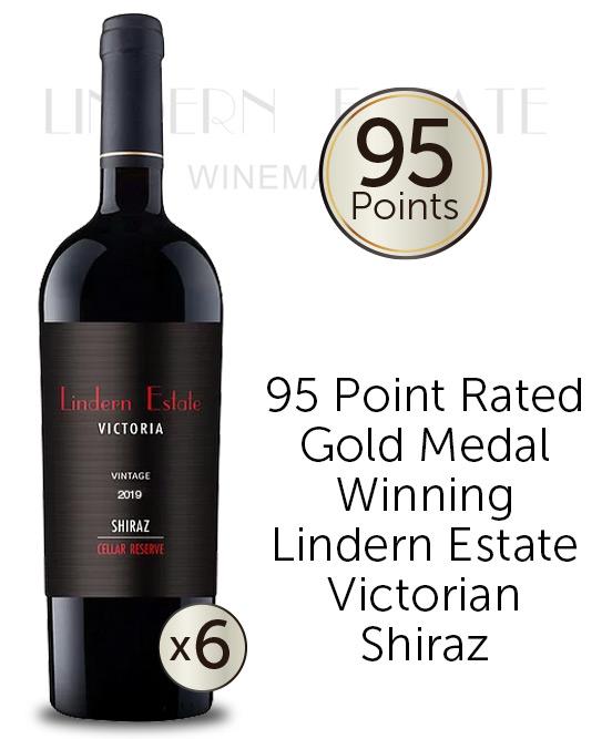 Lindern Estate Cellar Reserve Victorian Shiraz 2019 Thor Bottle 6pack