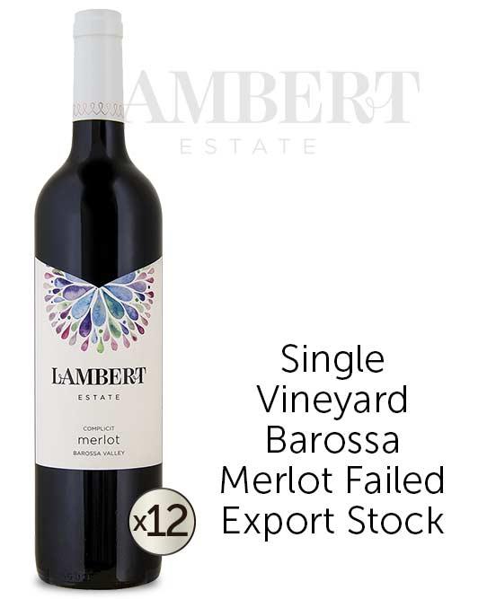 Lambert Estate Complicit Barossa Valley Merlot 2013 Dozen