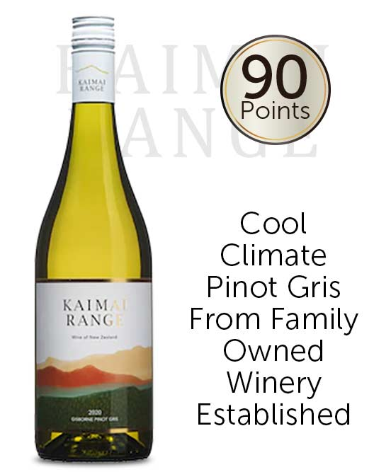 Kaimai Range Gisborne Pinot Gris 2020
