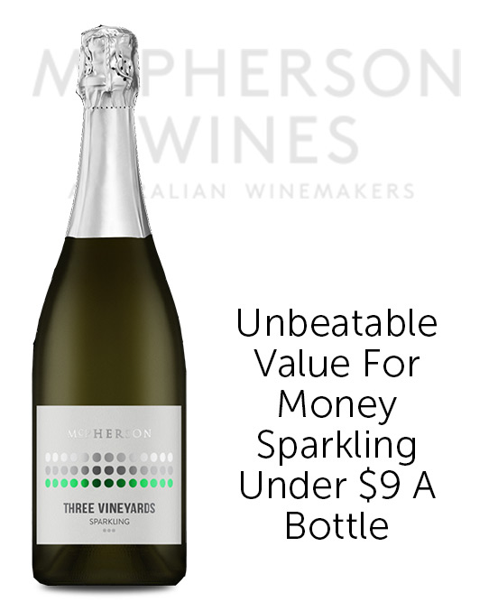 McPherson Three Vineyard Sparkling Chardonnay Pinot Noir 2019