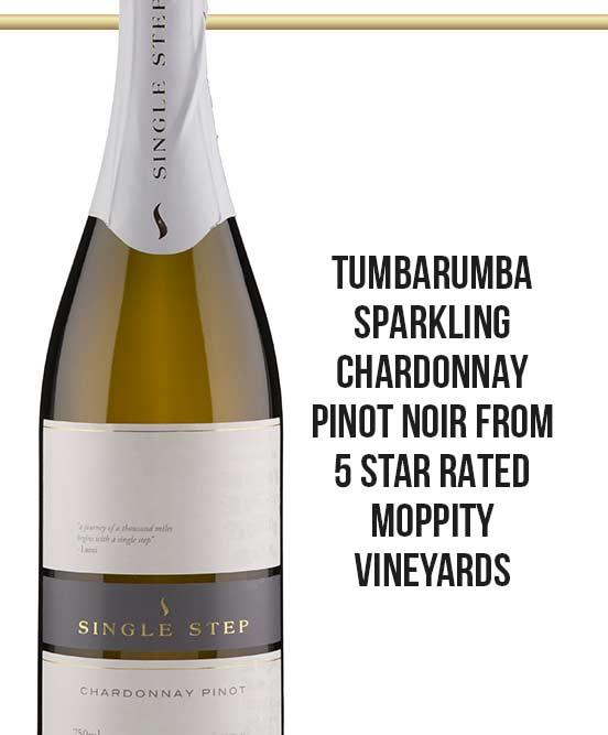 Moppity Vineyards Single Step Tumbarumba Sparkling Chardonnay Pinot Noir 2015