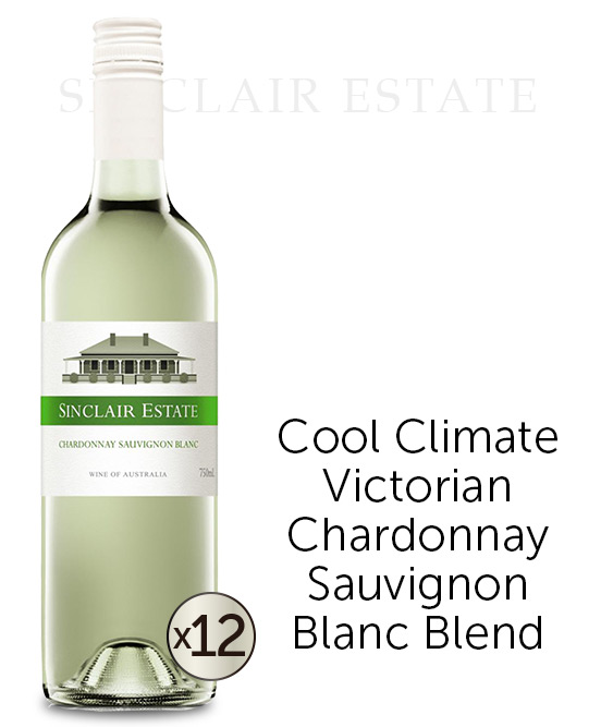 Sinclair Estate Victorian Chardonnay Sauvignon Blanc 2015 Dozen
