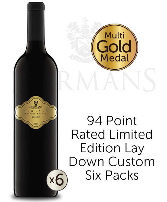 Normans 1853 Museum Release South Australia Shiraz 2013 6pack