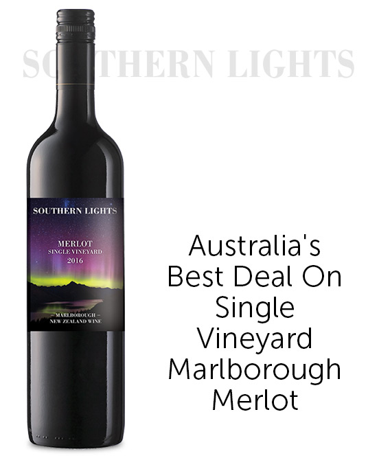 Southern Lights Marlborough Merlot 2016