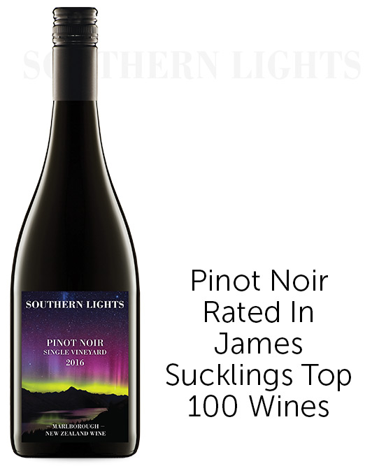 Southern Lights Marlborough Pinot Noir 2016