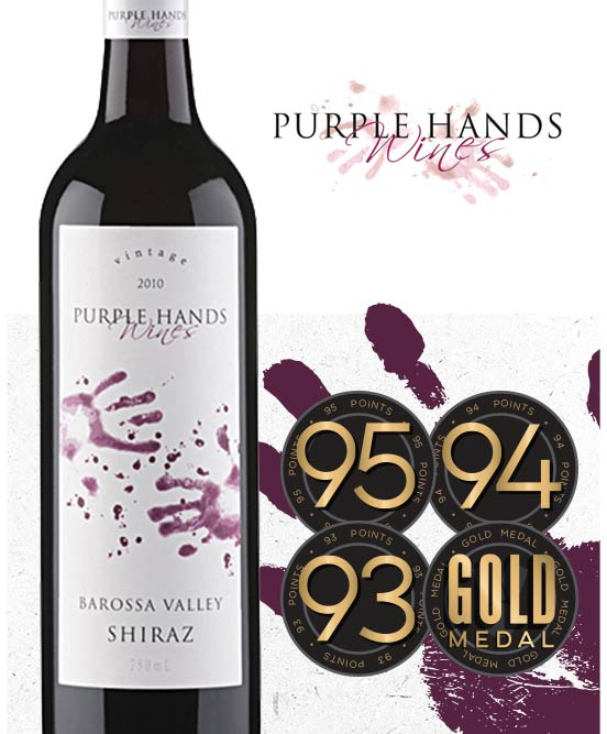 Purple Hands Wines Barossa Valley Shiraz 2016