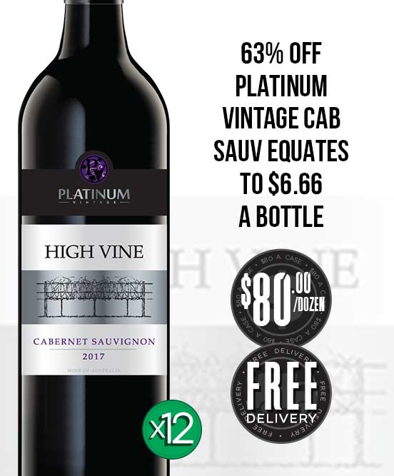Platinum Vintage High Vine Cabernet Sauvignon 2017 Dozen