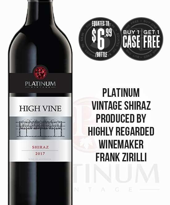 Platinum Vintage High Vine Shiraz 2017
