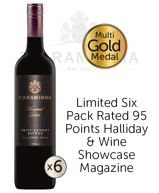 Pirramimma Vineyard Select McLaren Vale Petit Verdot Shiraz 2015 6pack