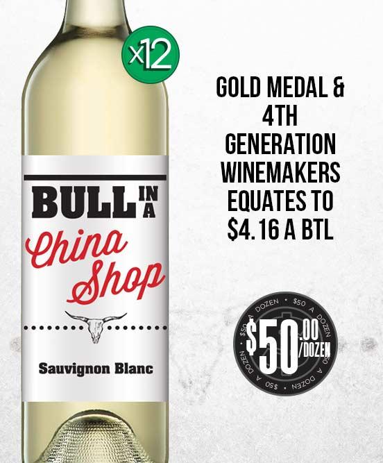 Bull In A China Shop Sauvignon Blanc 2016 Dozen