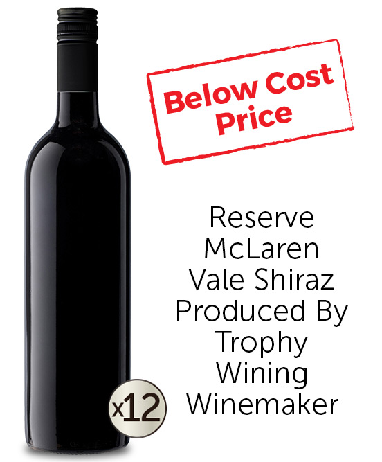 5 Star Winemakers Reserve McLaren Vale Shiraz 2016 Cleanskin Dozen