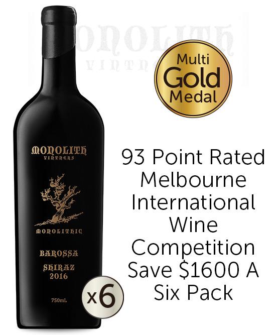Monolith Vintners Monolithic Old Vine Barossa Valley Shiraz 2016 6pack