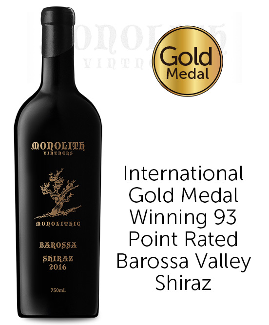Monolith Vintners Monolithic Old Vine Barossa Valley Shiraz 2016