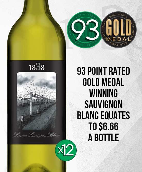 1838 Reserve Sauvignon Blanc 2018 Dozen