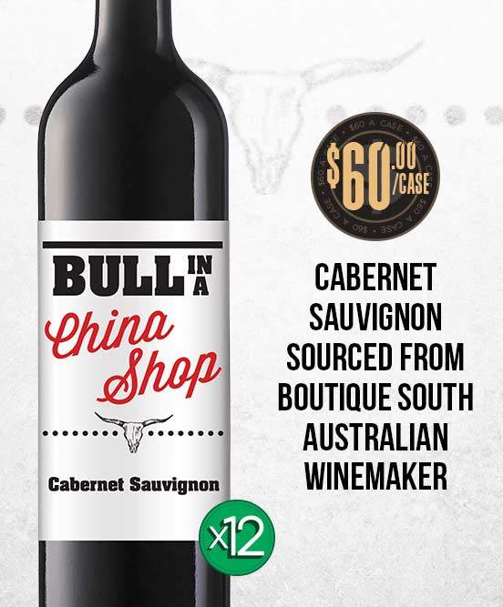 Bull In A China Shop Cabernet Sauvignon 2017 Dozen