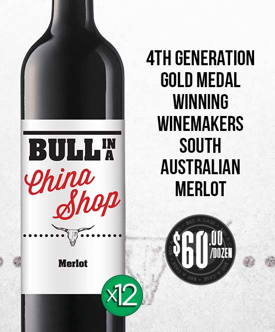 Bull In A China Shop Merlot 2017 Dozen