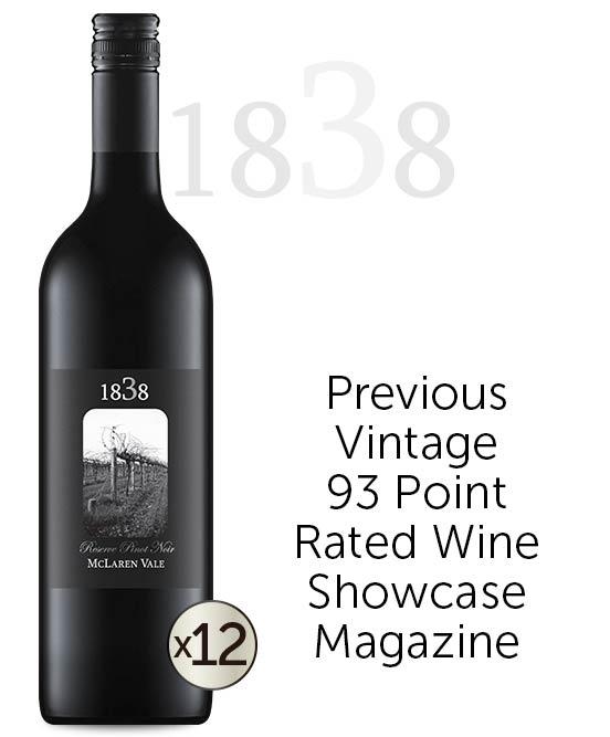 1838 Reserve Pinot Noir 2018 Dozen