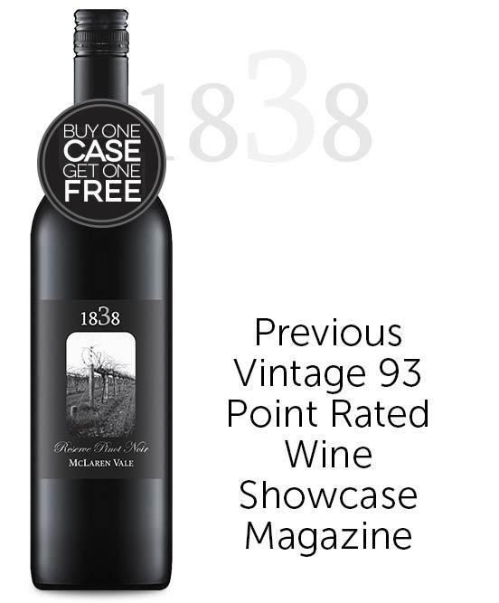 1838 Reserve McLaren Vale Pinot Noir 2018