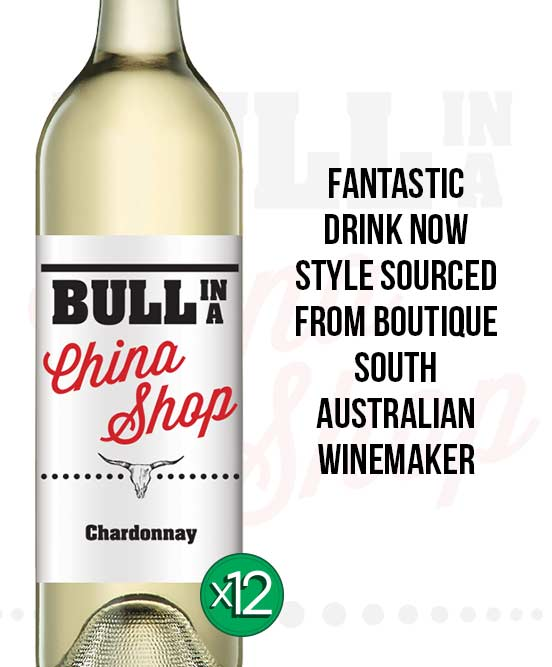 Bull In A China Shop Chardonnay 2018 Dozen
