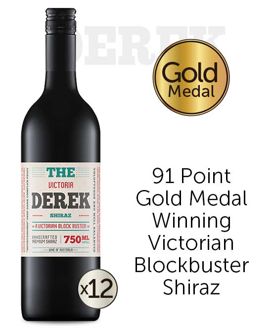 The Derek Victorian Shiraz 2018 Dozen