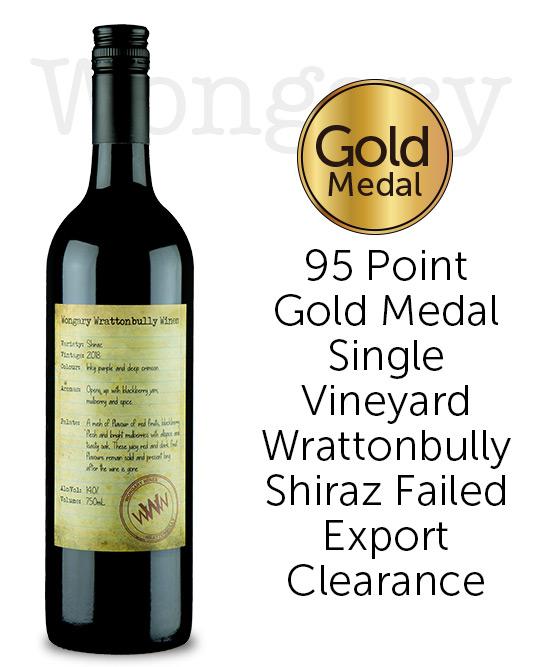 Wongary Wrattonbully Wines Shiraz 2018