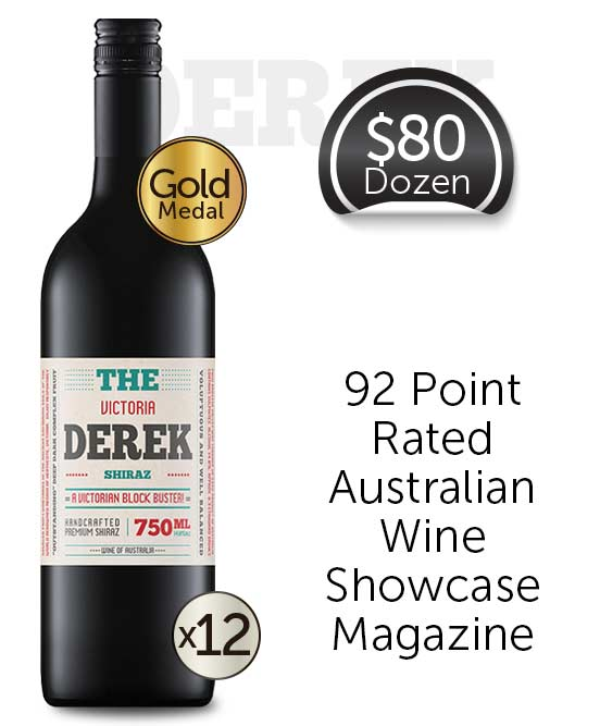 The Derek Victorian Shiraz 2019 Dozen