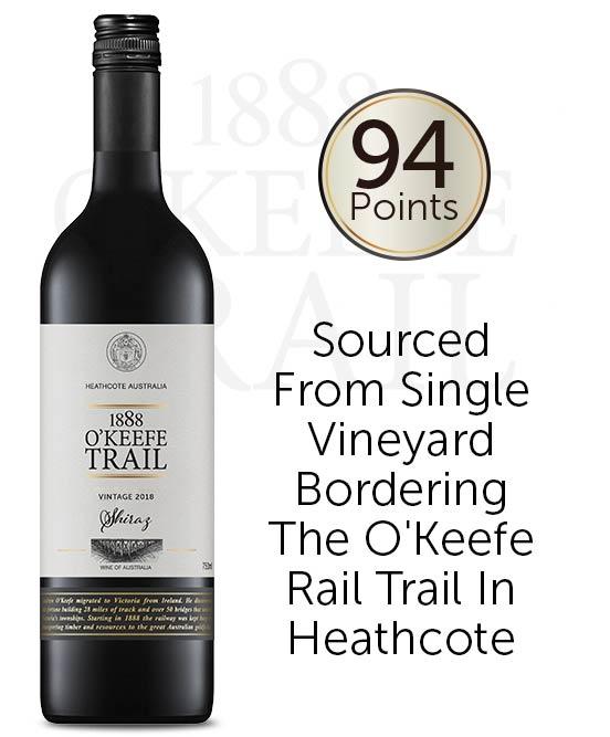 1888 O'Keefe Trail Heathcote Shiraz 2018