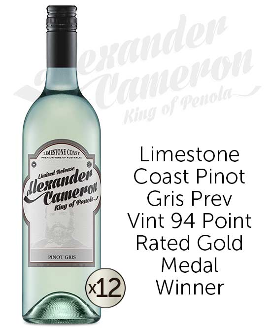 The Alexander Cameron Limestone Coast Pinot Gris 2018 Dozen