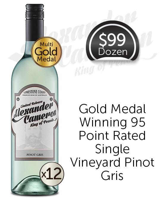 The Alexander Cameron Limestone Coast Pinot Gris 2020 Dozen